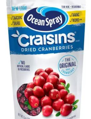Save $1.00 off (2) Ocean Spray Craisins Printable Coupon