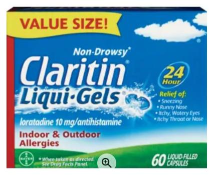 Save $8.00 off (1) Claritin Printable Coupon
