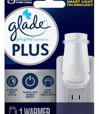 Save $1.50 off (1) Glade® PlugIns® PLUS Warmer Printable Coupon
