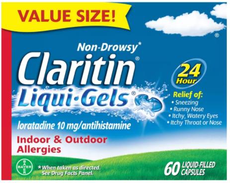 Save $8.00 off (1) Claritin Liquid Gels Printable Coupon