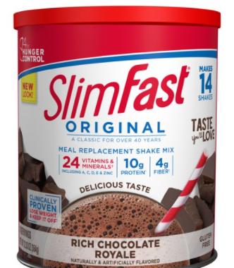 Save $1.00 off (1) SlimFast® Product Printable Coupon